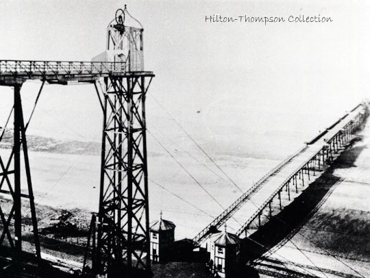 Saltburn's original cliff  hoist engineered by John Anderson