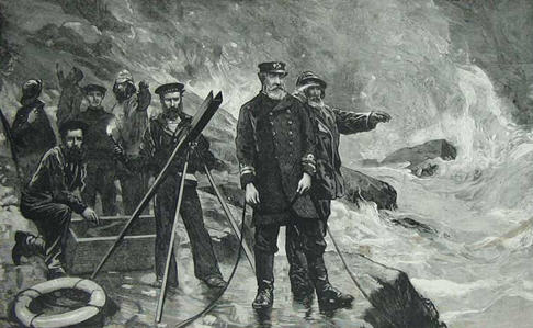 A Rocket Brigade crew in action, The Graphic, 1885